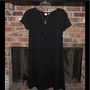 Short sleeve black t-shirt dress.